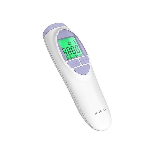 50 opinioni per HYLOGY Termometro Frontale a Infrarossi con Schermo LCD e Allarme di Febbre,