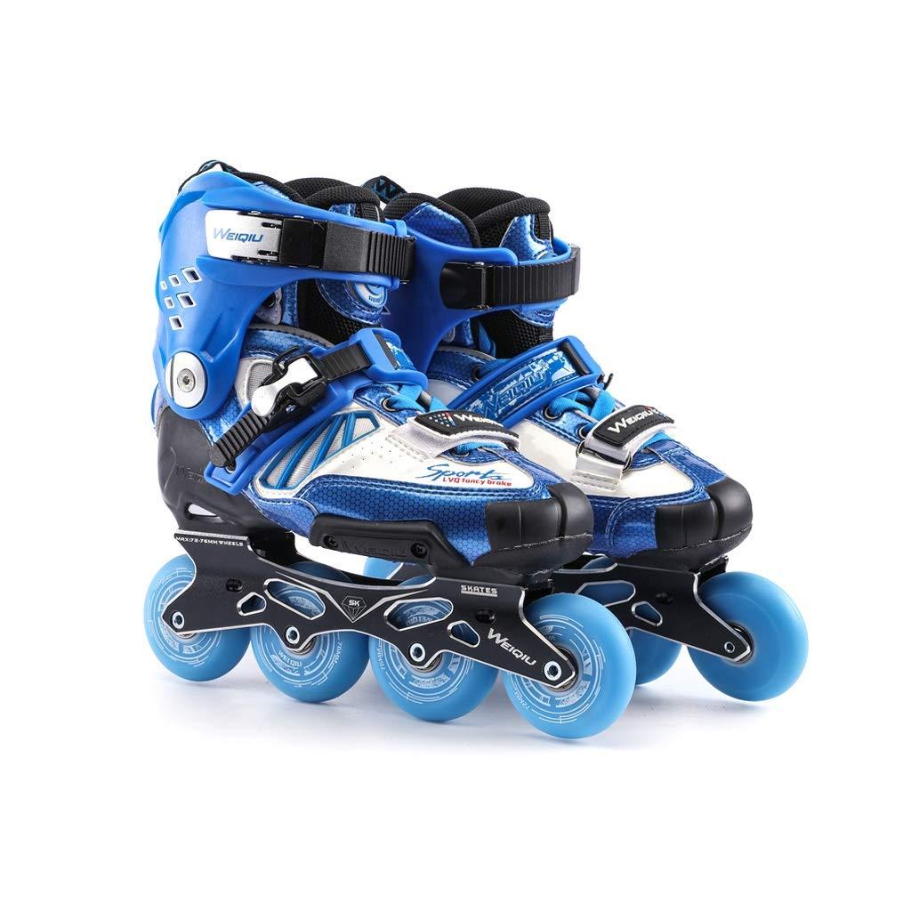 Ailj インラインスケート アダルト 単列スケート キャリア 男と女 ローラースケート スケート スケートボード 2色 色 祝開店大放出セール開催中 : 青 サイズ UK EU 23.5cm 4 24cm 38 6 37 US JP 5 B07P5G3DN6 さいず ストア