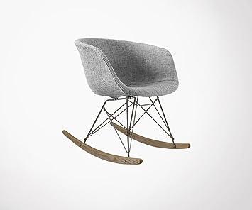 Fauteuil à Bascule Design RAY Rembourré Couleur Gris Amazon - Fauteuil de couleur design