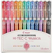 Pilot Hi-Tec-C maica 0.4mm Extra Fine Point Ballpoint Pen 12-color Set LHM180C4-12C