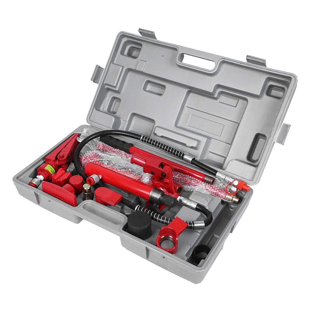 Cric Hydraulique Capacit/é de 4 Tonnes Kit de Cric de Levage Cric Jack V/érin Hydraulique Carrosserie pour Automobile Camion Agriculture Ch/âssis