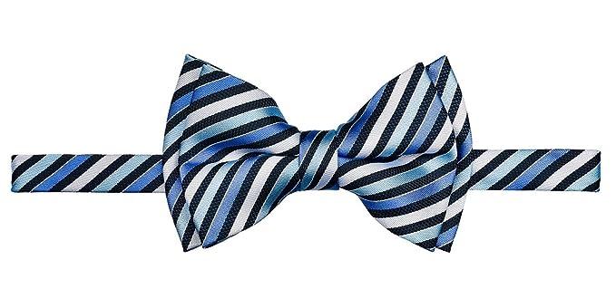New Retreez Retro Multi Tone Stripe Woven Microfiber Pre-tied Boy/'s Bow Tie P..