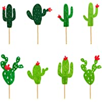 Amosfun 16 UNIDS Cake Toppers Lindo Cactus Cupcake