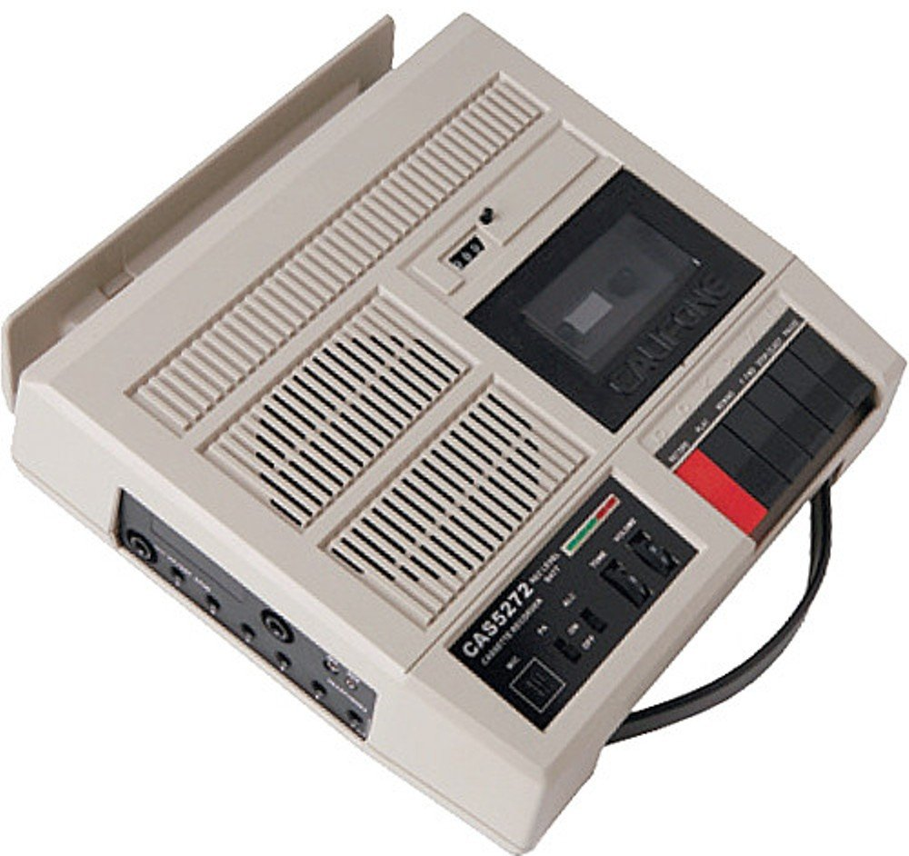 Califone CAS5272 Deluxe Cassette/Player Recorder, 10W RMS amplifier loud enough for classes up to 75 people and can be used for public address, 2 x 3 digit counter keeps track of key lesson points on tape by Califone
