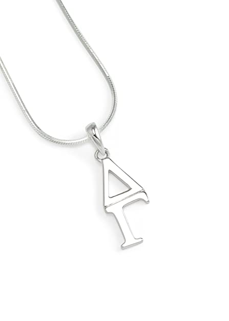 7cc64affdbfad The Collegiate Standard Delta Gamma (ΔΓ) Sorority Sterling Silver Lavaliere  Necklace