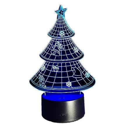 naladoo light decoration 3d artificial christmas tree stand small 7 colorfba