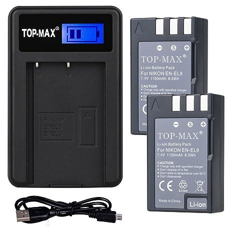 TOP-MAX cámara batería + cargador: Amazon.es: Electrónica