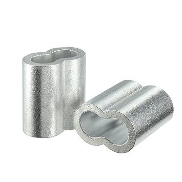sourcingmap 4 Stück 12mm 1/2-Zoll Kabel Drahtseil Aluminium Ärmel ...