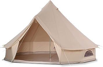Cozy House Bell Tent Impermeable Bell Tienda de campaña con Suelo con Cremallera: Amazon.es: Deportes y aire libre