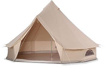 d9030eb714f7 bell tent impermeable bell tienda de campaña con suelo con cremallera (5M  diámetro)  Amazon.es  Deportes y aire libre