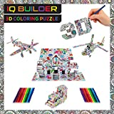IQ BUILDER | 3D ART COLORING PUZZLES FOR KIDS AND ADULTS | BEST FUN CREATIVE ARTS AND CRAFTS KIT TOY GIFT SET FOR BOYS AND GIRLS AGES 8 9 10 11 12 YEAR OLD | EASY PAINTING STRES...