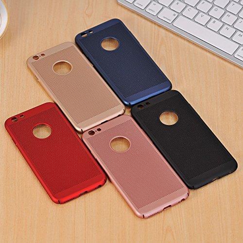 JIALUN-carcasa de telefono Para Apple iPhone 6 & 6s Funda Color sólido Metal Aleación de aluminio Caja de malla Ultra delgada Slim Lightweight Disipación de calor Contraportada ( Color : Rose Gold ) Gold