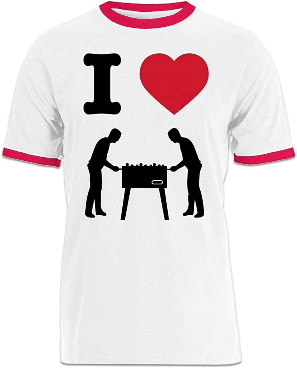 Shirtcity I Love cuadro Ringer – Camiseta de fútbol: Amazon.es ...