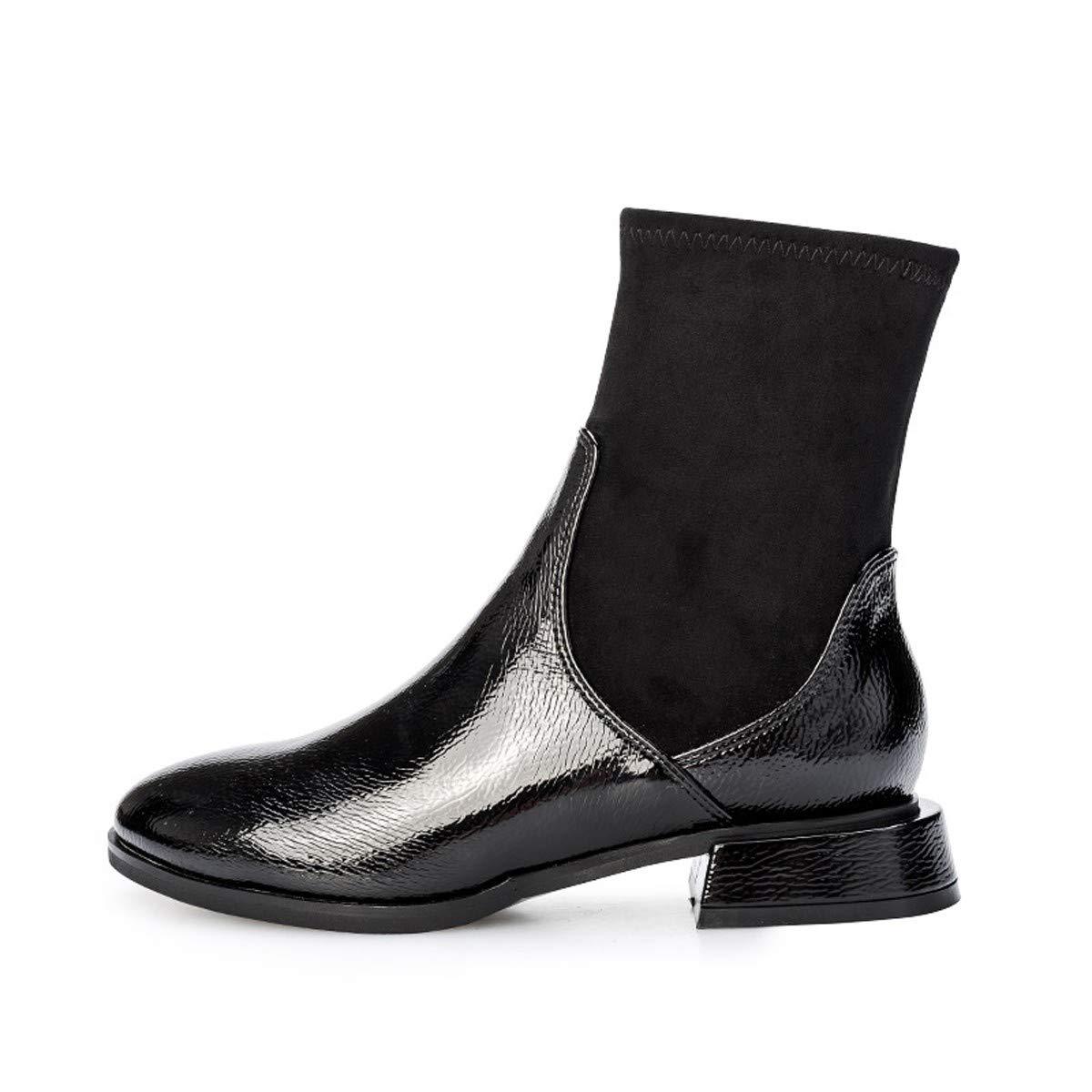 KOKQSX-fondo piatto martin gli stivali joker testa rotonda donne calzini calzini calzini stivali 36 nero 22babb