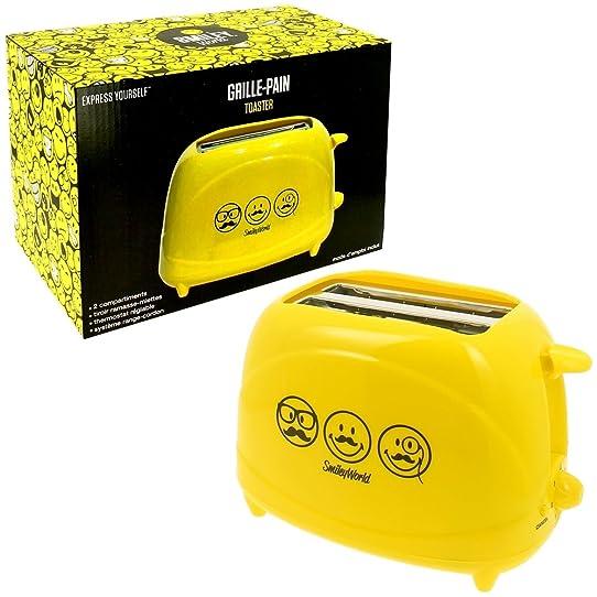 Promobo -Grille Pain Toaster Petit Déjeuner Tartine Smiley World ...