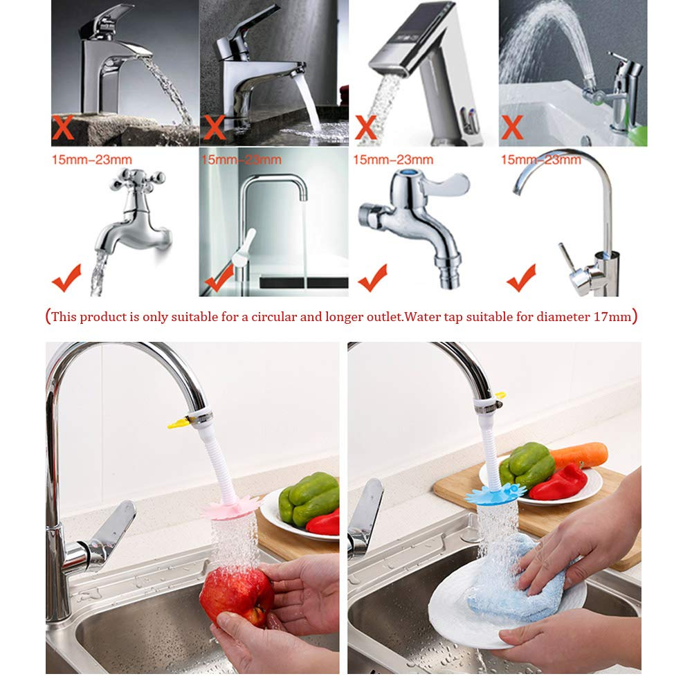 2pcs Kitchen Faucet Shower Head