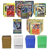 Pokemon EX Guarantee with Booster Pack, 5 Rare Cards, 5 Holo/Reverse Holo Cards, 20 Regular Pokemon Cards and 1 Dragonhide Deck Box- (White, Blue, Green, or Gold)