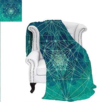 Amazon.com: RenteriaDecor - Manta de geometría sagrada con ...