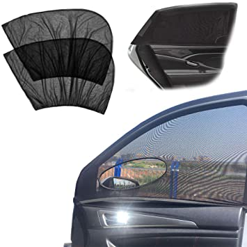 CAR 4 Pack for Front Window and Rear Window Anti-Mosquito,Car Sun Shade for Baby with UV Rays Protection and Privacy Protection Car Window Shade