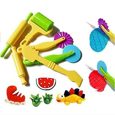 Airlove Playdough Tools for Kids Play Dough Molds Clay Tools Set of 6 Playset for Toddler Preschool Toys Classroom: Home & Kitchen
