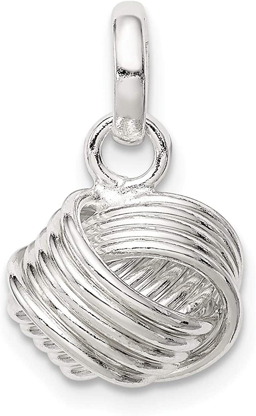 Sterling Silver Love Knot Small Pendant