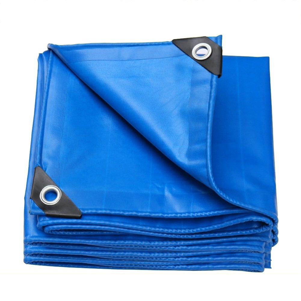 GLJ Starke Sonnencreme Regen Tuch Tragen Plane Wasserdicht Plane Leinwand Dampf LKW Plane Schatten Baldachin Plane (Farbe   Blau, größe   3x5m)