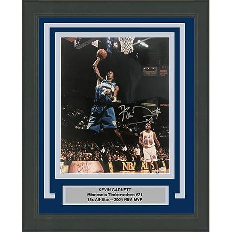 8714dd5a9 Framed Autographed Signed Kevin Garnett Minnesota Timberwolves 16x20  Basketball Photo JSA COA