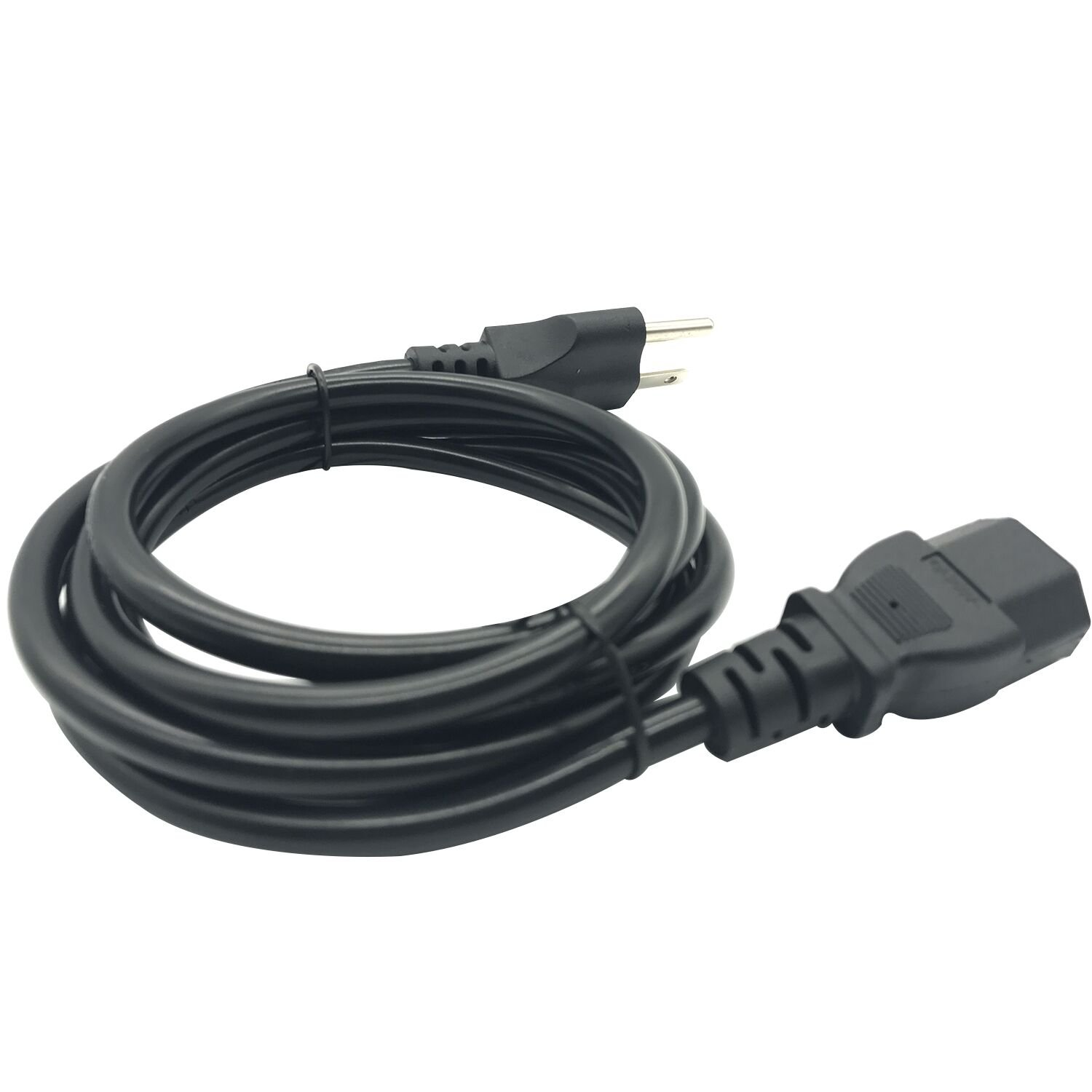 Apoi Computer Cable Cord[2 Pack] 6ft 18 AWG Universal Power Cord NEMA 5-15P to IEC320 C13 [UL Listed] 1.8m – Black by Apoi (Image #3)