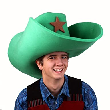 Amazon.com  Clown Antics Super Size 50 Gallon Cowboy Hats - Green ... 88c2b08f138