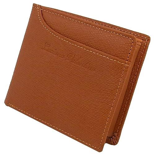 bd901c68742e 【箱無し】 メンズ 定番 本革 牛革 二つ折財布 カードスライダー付LUCIANO