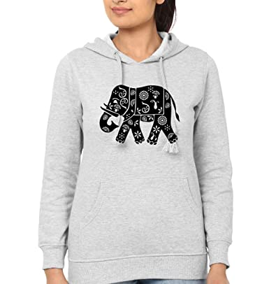 77e46395158675 EKTARFA Elephant Women Hoodie