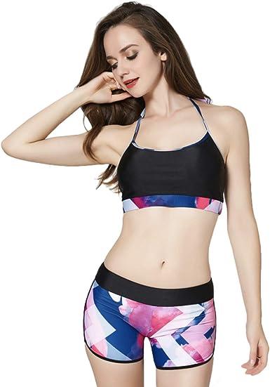Agoky Kids Girls Two-Pieces Summer Boyshort Tankini Swimsuit Racerback Tank Top Swimwear
