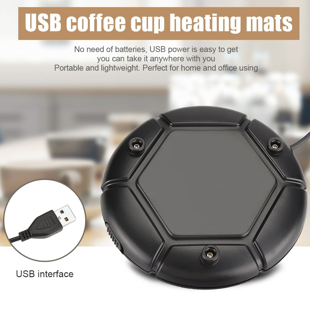 White Desktop Coffee Mug Warmer Electric Cup Beverage Warmer Plate for Coffee Tea Cocoa Soup Scented Candles Wax for Office Home Use