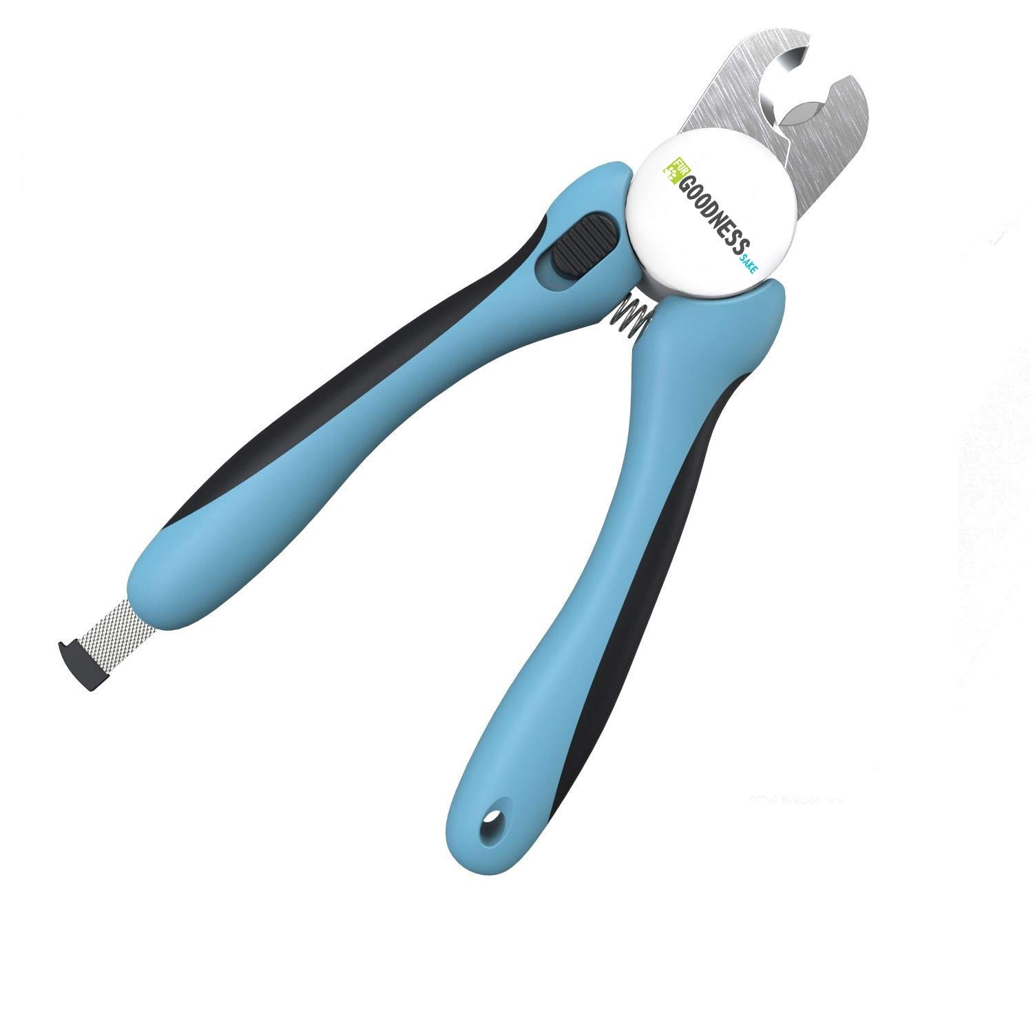 Dog Nail Clippers Large Breed - Easy to Use Dog Nail Trimmer and Toenail Clippers - Quick Sensor, Sharp Cuts and Safety Guard to Clip with Confidence by Fur Goodness Sake