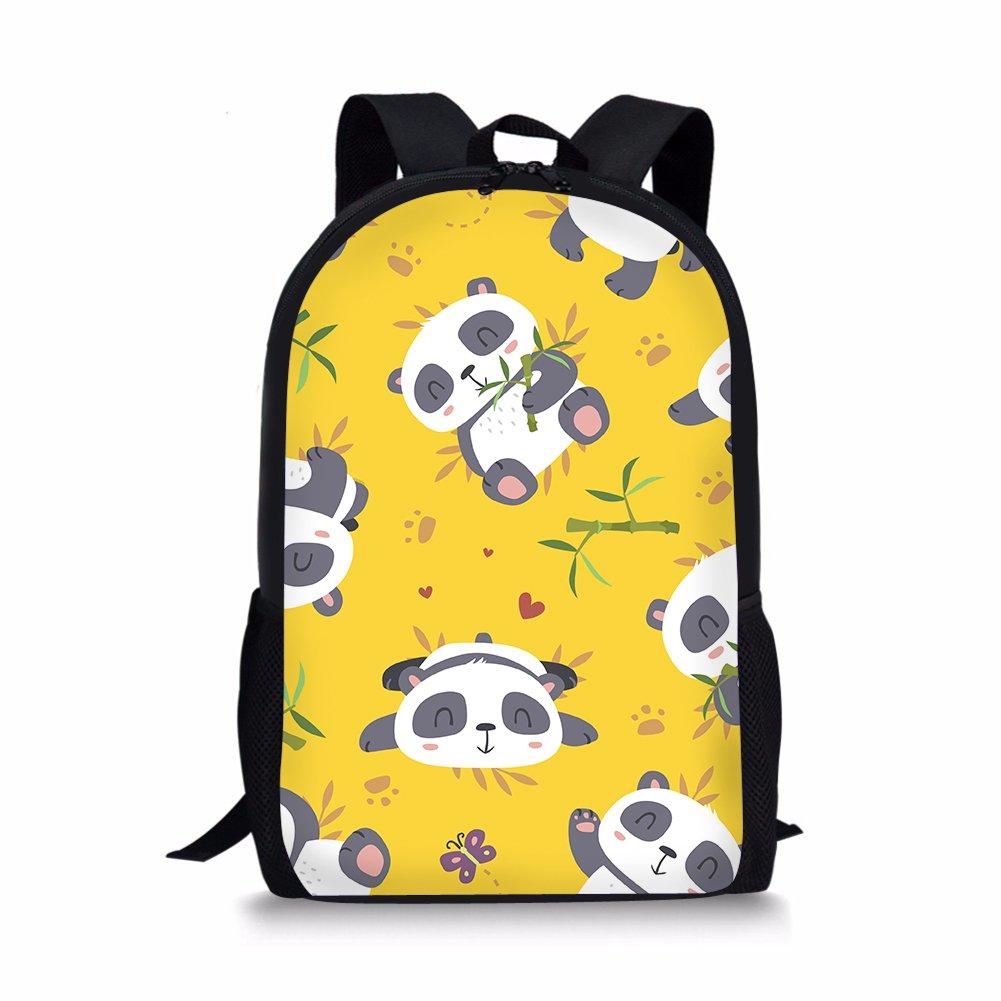 HUGS IDEA Mochila infantil, Panda1 (Amarillo) - Y-CC2784C