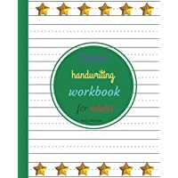 Cursive handwriting workbook for adults: Make it happen with dotted lined blank paper (Cursive notebooks)