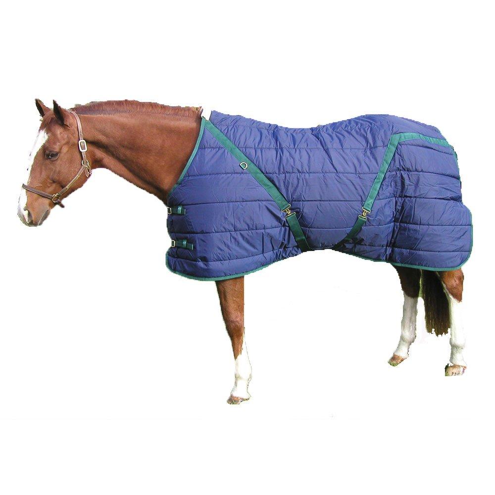 High Spirit Snuggie Stable Blanket, 76-Inch, Blue/Hunter Green