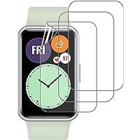 PUBUNUS 3 Piezas Protector de Pantalla para Huawei Watch Fit, Película Suave HD Ultrafina, Resistente a Rayones y Huella…