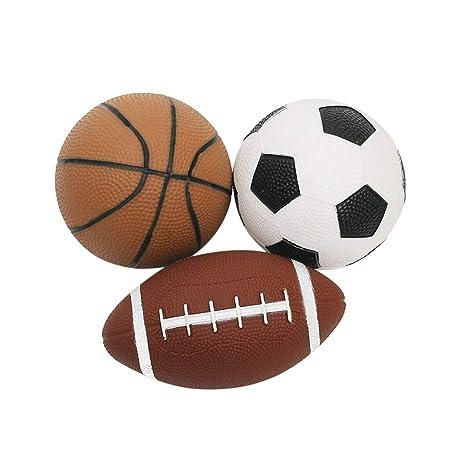 Lioobo 3pcs Mini Palline Morbide Di Sport Pallacanestro Calcio