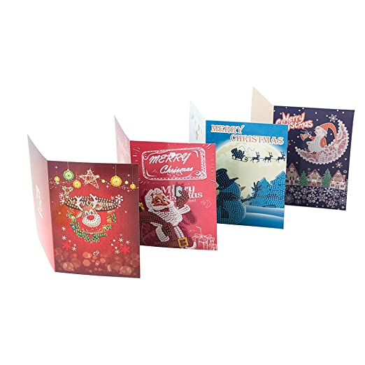 Weehey 5D Diamante Pintura Tarjetas de Navidad Bordado de ...
