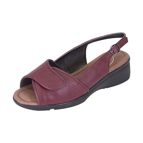 7531dd3807407 24 Hour Comfort FIC Suki Women Wide Width Open-Toe Adjustable Upper ...