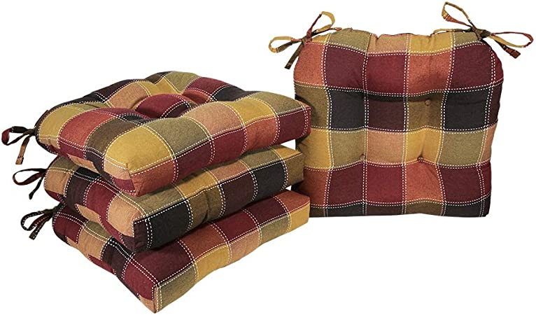 """Arlee Chair Cushion Pillows Set Of 2 Seat Pads Kitchen Dining Room Non-Skid 16/"""""""