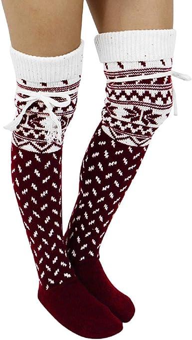 STORTO Women Cute Funny Catoon Socks Over Knee Casual Cotton Socks