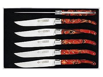 Genes David - Juego de 6 Cuchillos de Mesa (Mango Rainbow ...