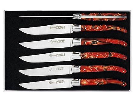 Genes David - Juego de 6 Cuchillos de Mesa (Mango Rainbow: Amazon ...