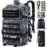 Monoki Military Tactical Backpack for Men, Large Army 3 Day Assault Pack, Molle Bag Rucksack, Emergency Backpack, Range Bag