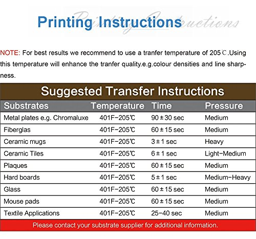 A-SUB Sublimation Paper 11x17 inch for All Inkjet Printer with Sublimation Ink,110 Sheets by A-SUB (Image #4)