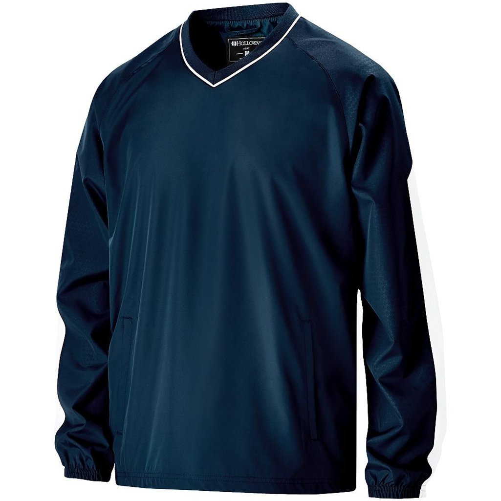 Holloway Youth Bionic Pullover Windshirt (X-Large, Navy/White) by Holloway