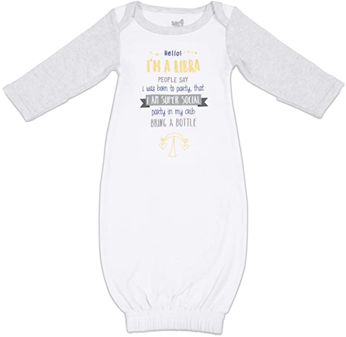 Amazon com: Pavilion - Zodiac Libra 0-3 Month New Born Gown with