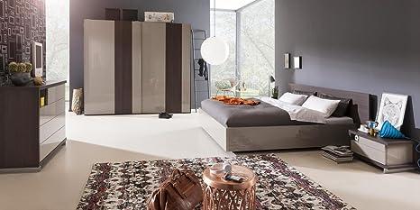 Camera da letto matrimoniale componibile completa color rovere ...
